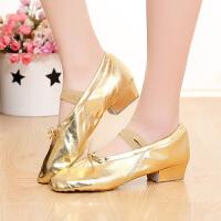 女式民族带跟舞蹈鞋软底练功鞋芭蕾舞鞋肚皮舞鞋教师鞋