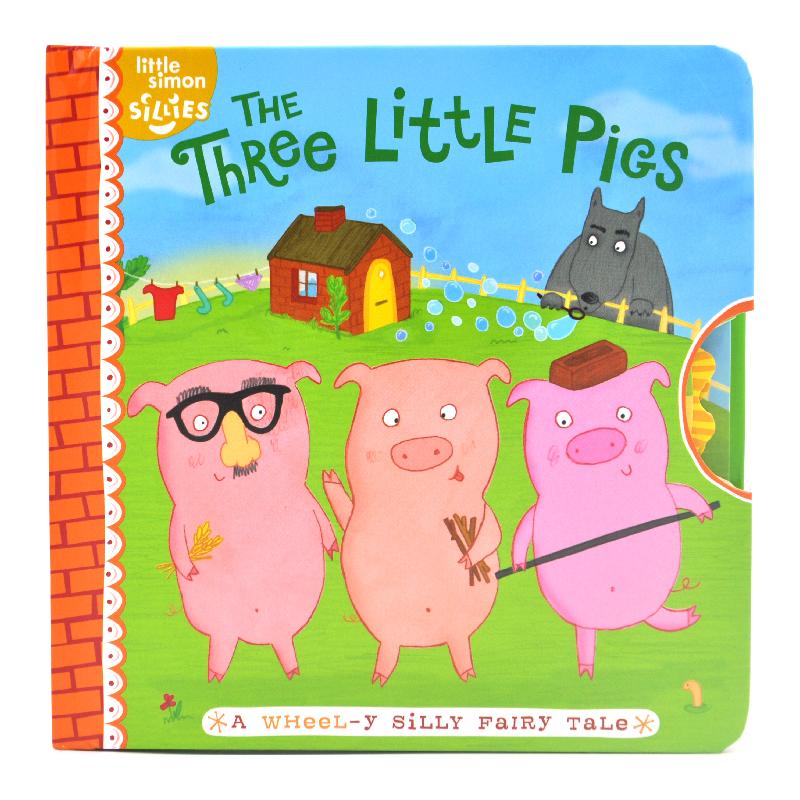 The Three Little Pigs 三只小猪 儿童经典英语童话故事 机关转盘书 英语单词游戏 幼儿互动纸板书绘本 英文原版进口图书