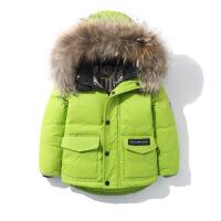儿童羽绒服男童中长款新款韩版轻薄款小宝宝童装长款加厚外套