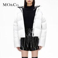 【到手价:1099,全场直降叠加满减,11.19 - 11.22】MOCO冬季新品纯色高领轻薄短款羽绒服女MA184E