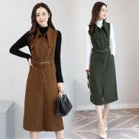 女装秋装2017新款潮时髦时尚套装女秋洋气毛呢套装裙两件套秋冬季