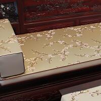 新梅花中式沙发垫布艺中国风罗汉床实木床垫坐垫椅垫加厚定制
