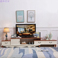 地中海 实木电视柜地柜客厅电视机组合伸缩视听柜音响柜组合 地中海 长:290-200cm 宽:42cm 高:45cm