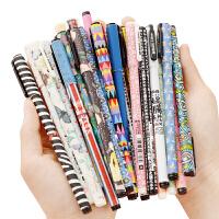 晨光文具中性笔0.35签字笔 黑色水笔学生办公文具24支装