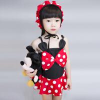 儿童泳衣可爱女孩连体婴儿裙式泡泳温泉宝宝婴儿游泳衣