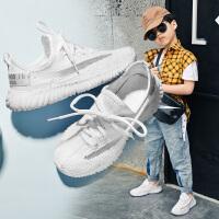 男童小白鞋子2020春秋款中大童学生儿童运动白鞋