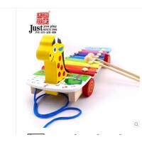 游家宝宝玩具1-2-3岁婴儿木琴手敲琴儿童乐器玩具琴 拖拉敲琴