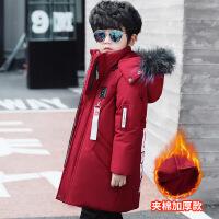 童装棉衣 儿童冬装新款男童棉袄毛领加厚中小童外套