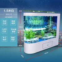 头鱼缸客厅家用中型水族箱玻璃1.2米1.5米生态落地屏风鱼缸好品质新款