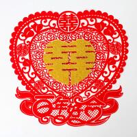 结婚庆用品双喜字大门贴婚礼布置创意婚房装饰喜子窗花剪纸门贴纸