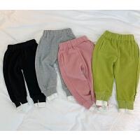 童装女童春装儿童宽松运动裤宝宝小孩长裤子休闲裤