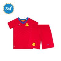 【领券2.5折价:49.8】361度童装 夏季新款运动短袖短裤男童足球套装K51821465