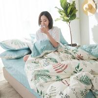 全棉四件套床上用品床单被套简约纯棉三件套1.5m/1.8m床双人