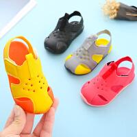 儿童凉鞋男1-3岁2小童软底防滑学步夏季2019包头女宝宝凉鞋