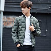 男士韩版潮流立领加厚羽绒服青年冬季保暖轻薄修身学生外套男