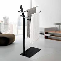 简约格调设计多功能可移动卫浴架毛巾架落地式浴巾架子
