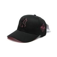 韩国棒球帽洋基队黑色NY嘻哈帽金标男女鸭舌帽遮阳帽子 可调节