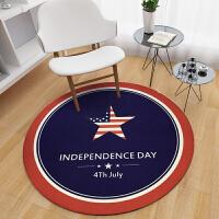 圆形地毯印花儿童房卧室客厅地垫电脑转椅吊篮藤椅垫