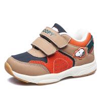 史努比童鞋新品男童鞋儿童机能鞋二棉保暖女童鞋