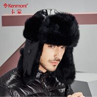 kenmont户外帽子冬天韩版潮保暖东北帽兔毛雷锋帽皮草帽滑雪帽1664
