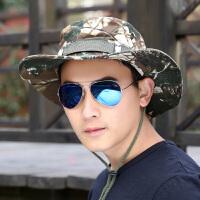 帽子男士时尚登山帽迷彩简约渔夫帽 情侣户外钓鱼帽太阳帽潮
