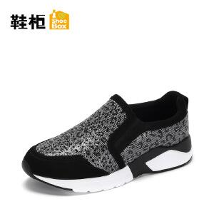 Daphne/达芙妮旗下 鞋柜春秋时尚休闲女运动休闲鞋懒人鞋