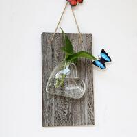 壁挂花盆墙面小清新文艺绿萝水培植物容器装饰品壁饰悬挂玻璃花瓶