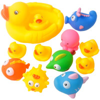 宝宝洗澡玩具 小鸭子游泳儿童水上戏水玩具