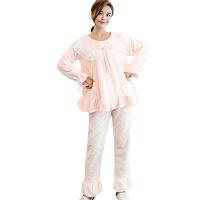 慈颜月子服秋冬加厚孕妇哺乳睡衣产妇产后时尚外出喂奶家居套装FJC702