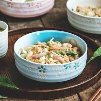亿嘉陶瓷拉面碗日式面条碗汤碗菜碗沙拉碗大碗学生泡面碗餐具家用