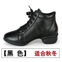 真皮舞蹈鞋软底春夏新款现代跳舞鞋女式高帮舞靴广场舞鞋子
