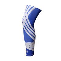 护膝运动跑步薄款专业训练户外健身护腿裤袜丝袜护具透气男女夏季 幻影蓝护腿