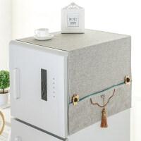 海尔冰箱双开门布罩防尘罩盖巾家用冰箱盖布现代防尘布洗洗衣机盖布