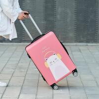 【品质优选】2019卡通行李箱皮箱密码拉杆箱女韩版个性可爱24大学生少女旅行箱20寸