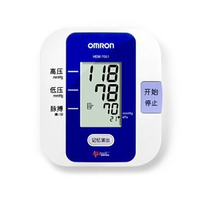 [当当自营]欧姆龙(OMRON)电子血压计 HEM-7051 送稳压电源赠原装电源适配器,限量200台!全国联保2年