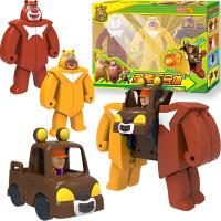 灵动熊熊乐园变形车玩具百变套装熊掌钱庄装熊大熊二光头强