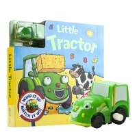 【首页抢券300-100】Little Tractor 拖拉机玩具书 轨道车书 纸板书 儿童趣味英语绘本 英文原版进口图