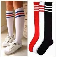 足球啦啦队配套街舞运动操长袜校服长短筒袜子演出表演服装 男女