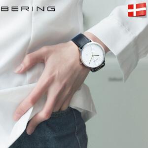 Bering白令进口腕表 时尚潮流钢带学生手表 简约大表盘女士手表