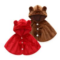 秋冬斗篷披风6个月秋冬婴儿外出服女宝宝披风披肩连帽秋季防风衣