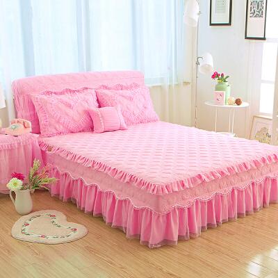 床罩单件床裙式夏天保护套三件套床头罩套装床群罩1.8x2.0m床套