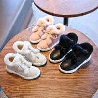 女童棉鞋冬季新款大棉加毛保暖女童小短靴