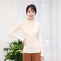 2017秋冬新款款女士毛衣外套保暖时尚羊绒衫女套头打底毛衫针织衫