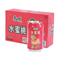 6月产 免运费 康师傅 水蜜桃汁果汁饮料310ml*24听 果味夏日饮品 饮料 整箱