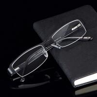 半框眼镜架男配成品变色防蓝光眼镜弹簧腿眼睛框镜男 眼镜框 单卖(含模板)