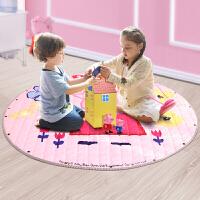 小猪佩奇儿童爬行垫家用婴儿客厅地垫保暖加厚卧室游戏毯爬爬垫 圆形直径150cm
