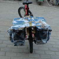 山地车后驮包长途后架包后座包折叠自行车驼包防雨车架包骑行装备