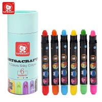 特宝儿 6色涂鸦笔套装儿童蜡笔安全可水洗安全宝宝画笔婴幼儿油画棒套装120228