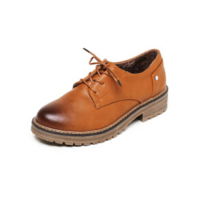 O'SHELL法国欧希尔新品020-D01-1韩版超纤皮低跟女士单鞋