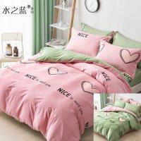 床上四件套棉棉简约床笠被套床品1.8m床1.5单人三件床单被罩